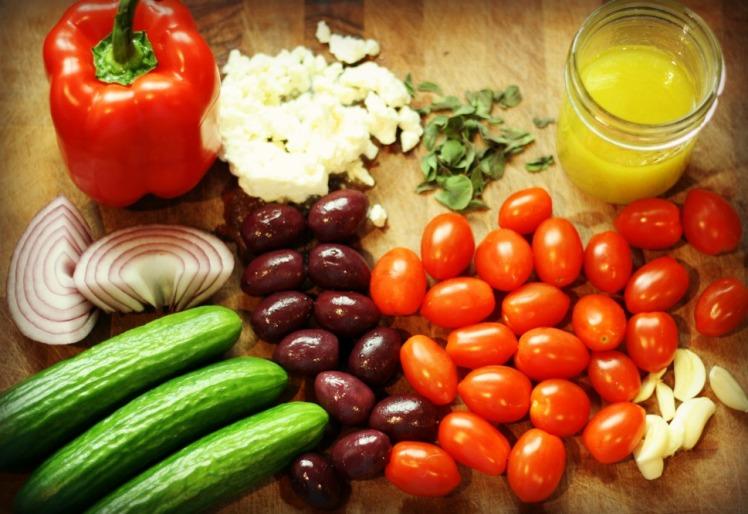GreekPastaSaladIngredients